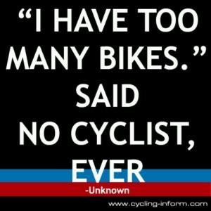 too many bikes