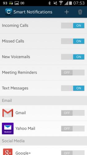 Garmin Vivosmart app notification centre