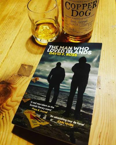 Book 18 of 2017 The Man Who Loved Islands by David F. Ross, finished last night with a wee dram of @copperdogwhisky. Highly recommended, both!